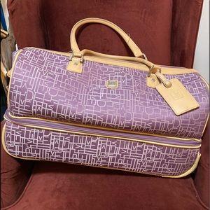 Diane Von Furstenberg Luggage Purple Wheeled Bag